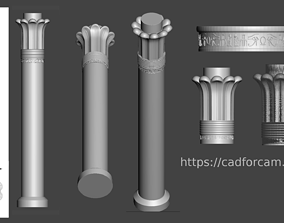 Egyptian-Column - 3d model for CNC - EgyptColumnCFC05