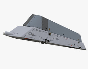 Aircraft missile launcher AKU-170 3D asset