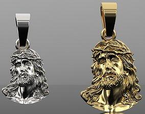 3D print model Jesus gold god pendant