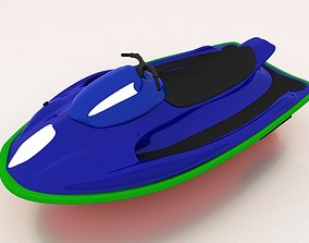 Water Scooter Jet Boat 3D asset