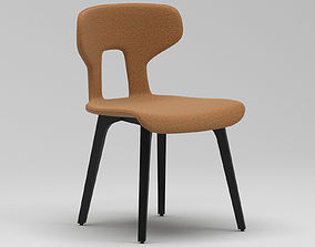 3D model Black And Brown Chair