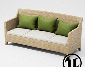 3D model Dedon Barcelona 3 Seater UE4