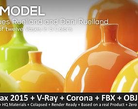 3D asset Jacques Ruelland and Dani Ruelland 12 Vases
