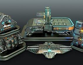 3D Sci-Fi Cyberpunk automation - Game-Ready