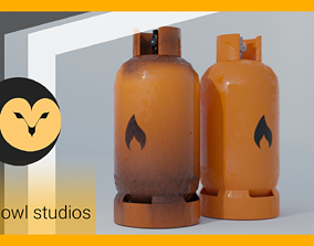 GameReady Gas Tank Collection - Rusty and Regular 3D model