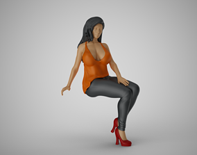 Woman Sit on Sofa 3D printable model