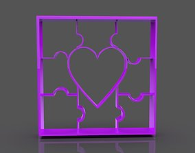 Love Puzzle Cookie Cutter 3D printable model