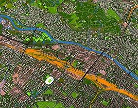 3D model Zurich city of Switzerland