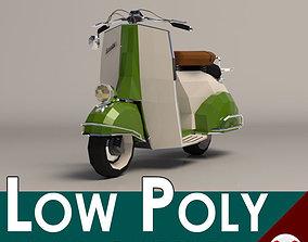 3D asset Low Poly Cartoon Vespa Scooter
