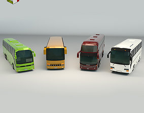 Low Poly Bus Pack 02 transportation 3D model