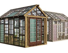 Aged frame greenhouse 3d model