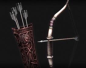 3D model Bow Arrows Quiver