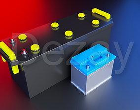 3D Car battery Acid 12v and 24v