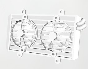 3D printable model Radiator with working fans