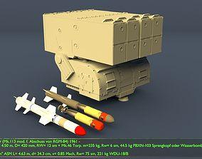 Anti Submarine Weapon USA RUR-5A Asroc 3D