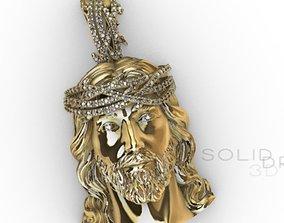 3D print model Pendant Christ studded diamond