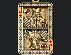 3D printable model Diamonds Jack playing card pendant