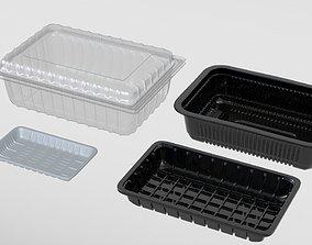 Transparent Plastic Food Container 3D