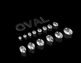 Diamond - Oval 3D printable model