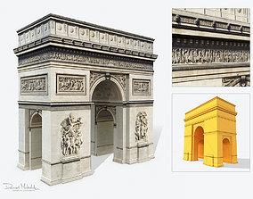 Low Poly Triumphal Arch 3D asset
