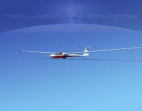 3D model Schleicher ASW 22 Sailplane V02