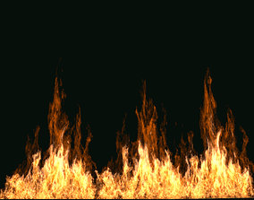 3D model FumeFX Large Scale Fire