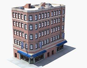 Downtown Store Building 3D asset
