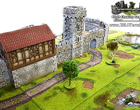 modular medieval Fortress or Castle SET - OPENLOCK - 3D