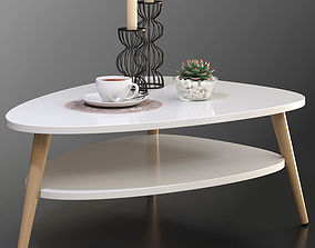 Modern coffee table Jimi La Redoute with decorative set 1