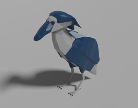 Cartoon Boat-billed Heron 3D model