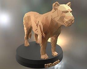 Parametric Lioness 3D asset