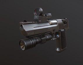 Desert Eagle D-50 Low-poly 3D model