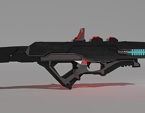 mechanical 3D model Sci fi Gun