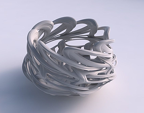 3D print model Bowl flared with interlacing lattice and 1