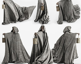 3D model Statue Of A Skeleton In A Cloak