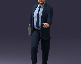 Man in business suit walking up 0226 3D model
