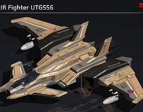 Scifi Fighter UTG556 3D asset