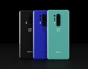 OnePlus 8 Pro In All Colors 3D asset