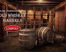3D asset Wooden Whiskey Barrels