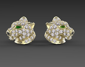 jaguar 3D printable model earrings famale