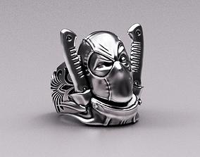 3D print model Deadpool ring