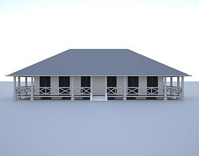 3D Colonial building