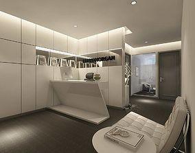 3D model office reception hall design complete 06