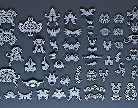 Ornate decoration parts bash 3D asset