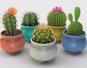 Stlyzed Cactus Set 3D model