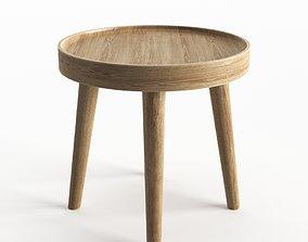 Simple Wood Side Table 3D model
