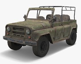 3D model UAZ Military