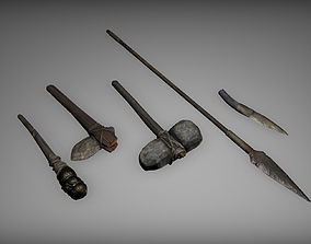 Prehistoric tools 3D model