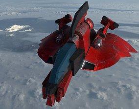 R-Type Spacecraft 3D asset