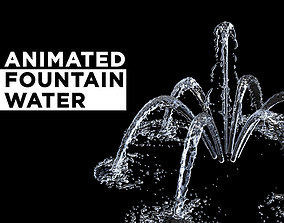 3D model animated Fountain Water